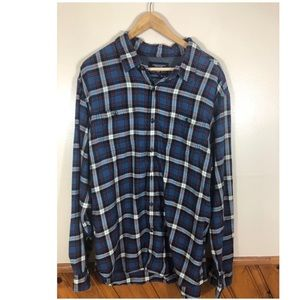 American Eagle | Blue Red Men's Flannel Sz XXL